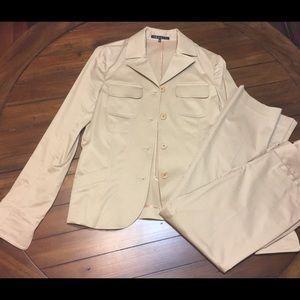 Theory Khaki suit